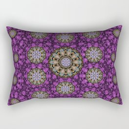 ornate heavy metal stars in decorative bloom Rectangular Pillow