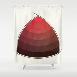 Le Rouge-Orangé (ses diverses nuances combinées avec le noir) Remake (Interpretation), no text Shower Curtain