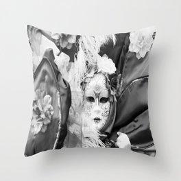 Venetian carnival mask D - Lady Nature Throw Pillow