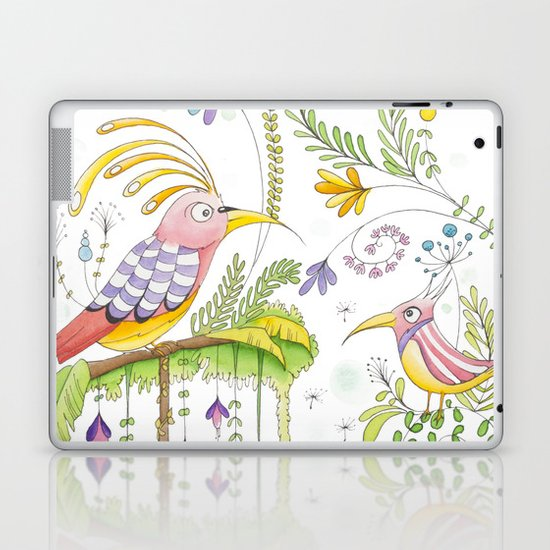 garden and birds Laptop & iPad Skin