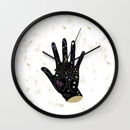 Floral Palmistry Wall Clock
