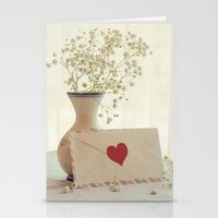 letter Stationery Cards featuring Love Letter by Colleen Farrell