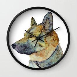 Dog - Alcohol Ink Wall Clock