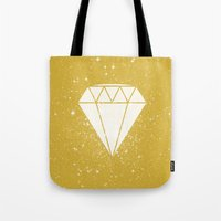 Space Diamond (gold) Tote Bag