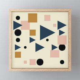 Shoal Geometric Abstract Framed Mini Art Print