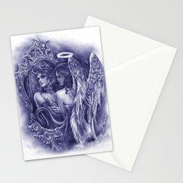 Good or Evil (Blue Version) Stationery Cards