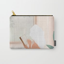 Reading Girl in Bathtub Carry-All Pouch