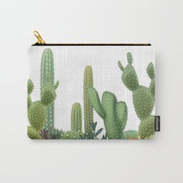 Milagritos Cacti on white background. Carry-All Pouch