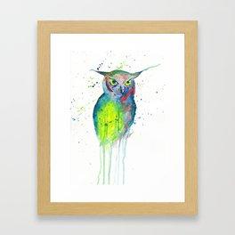 Dripping Owl Framed Art Print