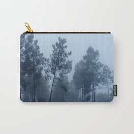 Fog and Forest II-wood,mist,romantic, greenery,sunset,dawn,Landes forest,fantasy Carry-All Pouch