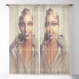 Josephine Baker, Vintage Entertainer Sheer Curtain