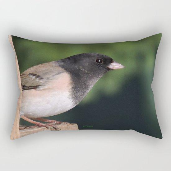 Dark-Eyed Junco Rectangular Pillow