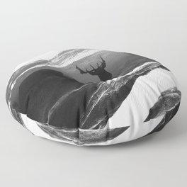Oh Deer Black Floor Pillow