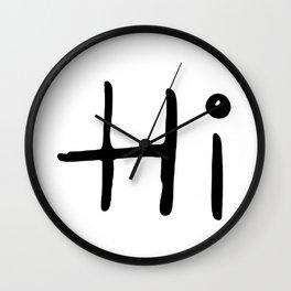 Hi (OOPS Hi COMBO) Wall Clock