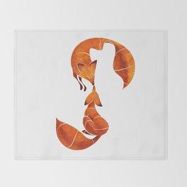 Kissing foxes Throw Blanket
