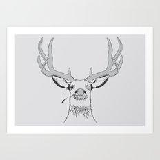 Deer, Pirate  Art Print