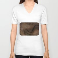 cracked V-neck T-shirts featuring Cracked face by LoRo  Art & Pictures