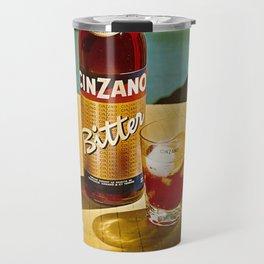Vintage Bitter Cinzano Advertisement Poster Travel Mug