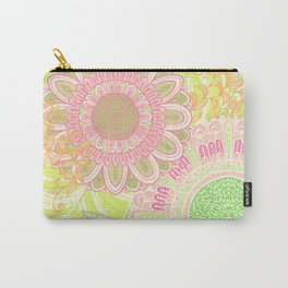 Hand Drawn Floral & Mandala 07 Carry-All Pouch