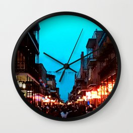 New Orleans Bourbon Street Dusk Wall Clock