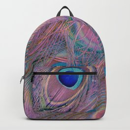 Sugar Peacock Feathers Backpack