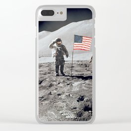 Apollo 15 - Military Salute Clear iPhone Case