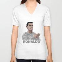 ronaldo V-neck T-shirts featuring Cristiano Ronaldo by siddick49