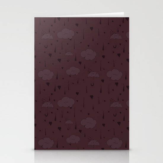 Rainy Love Stationery Cards