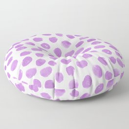 Purple dots - painted dots fabric, dots fabric, purple painted dots Floor Pillow