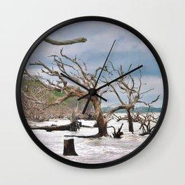 Drift Wood Beach 3 Wall Clock