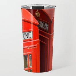 Red phone booth London Travel Mug
