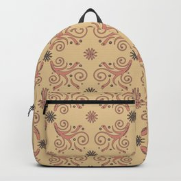 Flowers & Flourishes, cream & pink Backpack