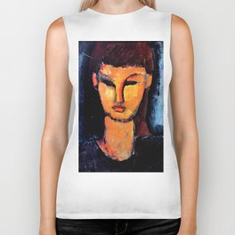 "Amedeo Modigliani ""Head of a Young Woman"" Biker Tank"