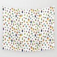 crystals Wall Tapestries featuring Crystals by Leah Zobott