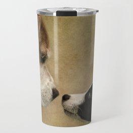 Nose To Nose Dogs Travel Mug