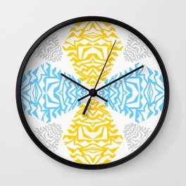 Pine Cones - Papercut pattern Wall Clock