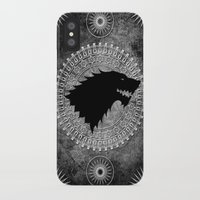 house stark iPhone & iPod Cases featuring House Stark by Micheal Calcara