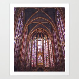 Stained Glass in Sainte Chapelle - Paris, France Art Print