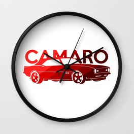 Chevrolet Camaro SS -classic red - Wall Clock