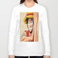one piece Long Sleeve T-shirts featuring One piece by Duitk