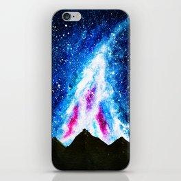 Acrylic Galaxy Mountain Silhouette iPhone Skin