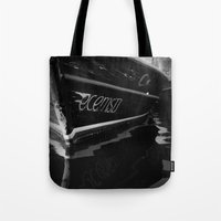 boat Tote Bags featuring boat by habish