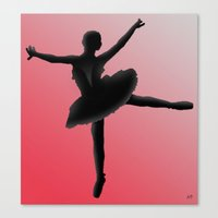 ballet Canvas Prints featuring Ballet by AdamSteve