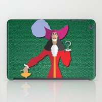hook iPad Cases featuring Captain Hook by AmadeuxArt