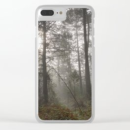 Calm morning... Into the foggy woods Clear iPhone Case