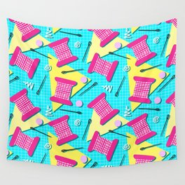 Memphis Sewing - Brights Wall Tapestry