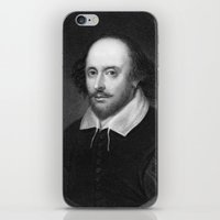 shakespeare iPhone & iPod Skins featuring William Shakespeare by Palazzo Art Gallery