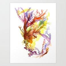 Volcanic Tango Art Print