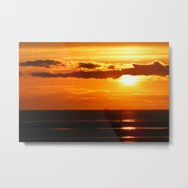 Sunset in the Bay Metal Print