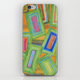Vibrant Rectangles  iPhone Skin